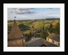 Air view of the old town by drone by Corbis