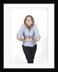Woman with hands on stomach by Corbis