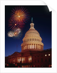 Fireworks over U.S. Capitol by Corbis
