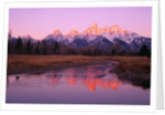 Snow-Capped Mountains at Daybreak by Corbis
