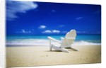 Beach Chair on Empty Beach by Corbis