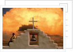 Church Bell and Cross at Twilight by Corbis