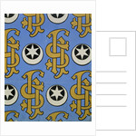 Star and Clef Ecclesiastical Wallpaper Design by Augustus Welby Pugin