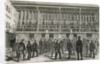 Engraving Depicting Prisoners Working at the Tread-Wheel and Others Exercising in the Third Yard of the Vagrants' Prison, Coldbath Fields by Corbis