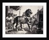 Farrier at Work Lithograph from Etudes de Cheveaux by Theodore Gericault