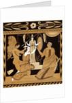 19th Century Greek Vase Illustration of Cassandra with Apollo and Minerva by Corbis