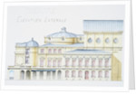 Architectural Drawing Showing Lateral Elevation of Theatre Building by H. Monnet