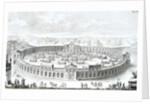 Engraving of Roman Boat Arena by Fischer von Erlach