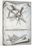 Book Illustration of Architects' and Surveyors' Tools by Micheal van der Gucht