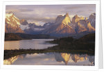Cuernos del Paine and Lake Pehoe at Sunrise by Corbis