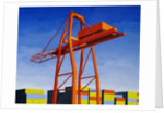 Crane with Containers by Mary Iverson