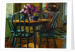 Lilacs and Green Chairs by Pam Ingalls