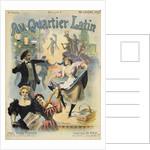 Au Quarter Latin Poster by Paul Merwart