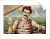 Compound Oxygen, Healthy Sailor Selling Medicine Advertisement by Corbis