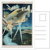 Poster of Russian Biplanes and Zeppelin by Corbis