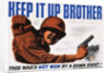 Keep It Up Brother War Production Poster by Clayton Kenny