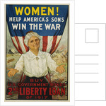Women! Help America's Sons Win the War Poster by R.H. Porteous