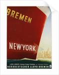Bremen New York Travel Poster by Kuck