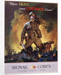 Signal Corps Recruitment Poster by Jes Schlaikjer