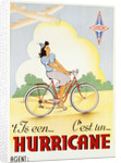 Hurricane Bicycle Advertisement Poster by Corbis