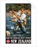 For the World's Best Sport, New Zealand Poster by M.A. Poulton