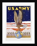U.S. Army, at Home Abroad Recruitment Poster by Tom Woodburn