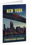 New York . . . Always Exciting! Go by Pennsylvania Railroad Travel Poster by Corbis