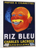 Riz Bleu - Charles Lacroix Cigarette Paper Advertisement Poster by Galicello