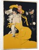 Poster of a Woman in a Yellow Dress by Jules Alexandre Grun