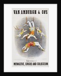 Van Amburgh and Co's Menagerie, Circus and Colosseum Poster with Male and Female Trapeze Artists by Corbis