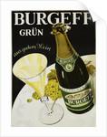 Burgeff Grun Champagne Advertisement Poster by Corbis