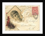 James Pyle's Pearline Trade Card with a Lock of Hair by Corbis
