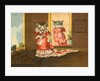 DeLand's Baking Powder Trade Card of a Cat in a Red Dress by Corbis