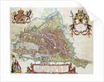 Gandavum Map of Ghent by Jan Blaeu