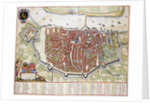 Antverpia Map of Antwerp by Jan Blaeu