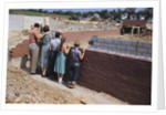 Family Observing a School Construction Site by Corbis