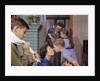 Family Getting Ready in the Morning by Corbis