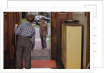 Father Waving Goodbye to Son by Corbis