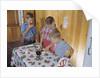 Children Eating Jelly Sandwiches by Corbis