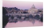 Tiber River and St. Peter's Basilica by Corbis