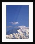 Mount McKinley Under a Half Moon by Corbis