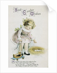 Best Easter Wishes Greeting Card Ephemera by Ellen H. Clapsaddle