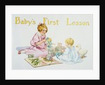 Baby's First Lesson Book Illustration by Florence Curtis Elizabeth Choate