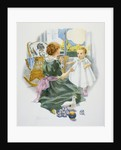 Baby's First Lesson Book Illustration with Mother and Daughter by Florence Curtis Elizabeth Choate