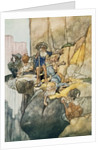 Illustration Depicting the Seven Dwarfs Mining by Charles Robinson