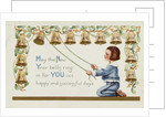 May the New Year Bells Ring in for You 365 Happy and Successful Days Postcard by Corbis