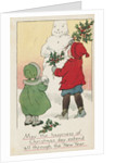May the Happiness of Christmas Day Extend All Through the New Year Postcard by Corbis