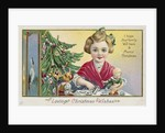 Loving Christmas Wishes: I Hope Your Family Will Have a Merry Christmas Postcard by Corbis