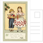 All Good Wishes for Christmas and the New Year Postcard by Corbis