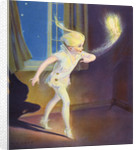 Book Illustration of Peter Pan Tiptoeing with Tinkerbell by Roy Best